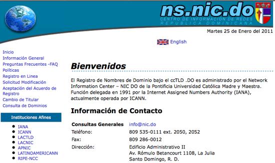 gestion de dominios en republica dominicana