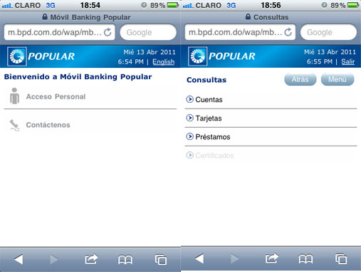 ibanking movil del popular en linea